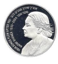 ISRAEL 2005 NAOMI SHEMER PROOF COIN 28.8g SILVER 2 NIS