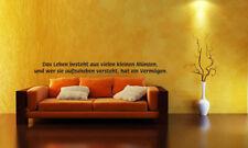 Wandaufkleber Zitate Sprüche Wandtattoo Deko 120cm f003