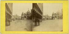 Photo Albuminé Stéréo Venise Italie Vers 1870