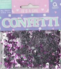 2 PACK IT'S A GIRL CONFETTI /  TABLE SPRINKLES PINK COLOUR TABLE DECORATIONS