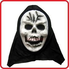 SKELETON SKULL SCREAM GHOST HOODED MASK-HALLOWEEN HORROR SCARY COSTUME