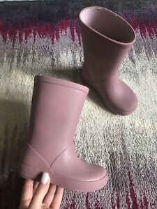 Zara Girls Blush Pink Wellies Boots Size Eur 25 Uk 8 (15,6cm) Vgc