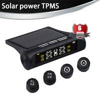 Solar Wireless Car Tire Pressure Alarm Monitor System TPMS + 4 External Sensors