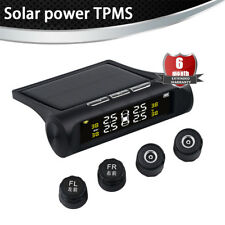 Solar Wireless Car Tire Pressure Alarm Monitor System TPMS + 4 External Sensors