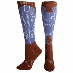 Ariat Women's Brown Western Boot Socks A10009399
