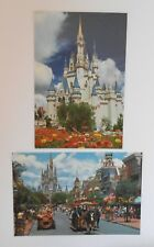 2 POSTCARDS 1992 FLORIDA Good condition America USA Unposted Disney collectable