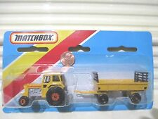 MATCHBOX 1983 TP108 Yellow TRACTOR + HAY TRAILER Two Pack Nu in Unopened Package