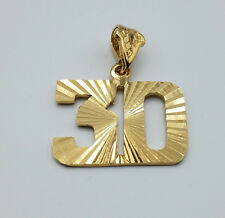Number 30 James Conner Steelers Game Day Pendant 24k gold plated diamond-cut