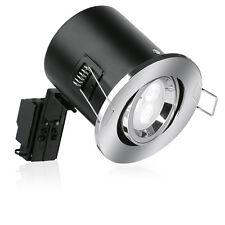 Aurora Fire Rated Adjustable Gu10 Downlight Twist Lock Satin Nickel 230v