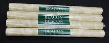 Scrolls Leaves White Background Faux Beacon House Wallpaper  #85-64322 Lot of 4