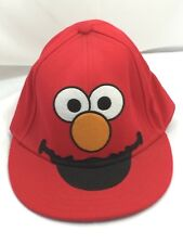 Elmo Red Fitted Sesame Street Ball Cap Hat Medium M 26162