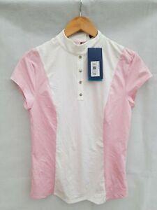 B VERTIGO Anne Women's Competition Shirt SIZE UK 12 White/pink
