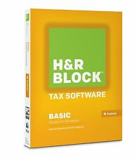 H&R Block Basic Software Simple Situations 2014 Federal Tax Only Sealed CD-ROM