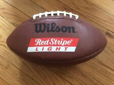 SUPER RARE, TEAM RED STRIPE LIGHT (BEER), OFFICIAL SIZE WILSON FOOTBALL (PROMO)