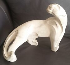 """Fantastic Rare Vintage 1991 Signed Austin Porcelain """"Jaguar/Panther"""" Sculpture"""