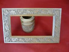 *** Antiker kleiner Bilderrahmen, Stiftehalter, Rahmen, alt, Holz, Schnitzerei *