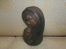 effige in bronzo madonna con bambino