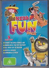 KIDS FUN PACK - 5 DISC SET - ALL DOGS GO TO HEAVEN - ANNABELLES WISH  - MORE