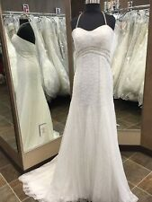NWT 2498 Alfred Angelo Wedding Bridal Fit N Flare Ivory Size 8