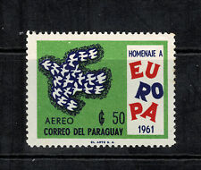 Paraguay 1961 $50 Europa Airmail Stamp - MUH