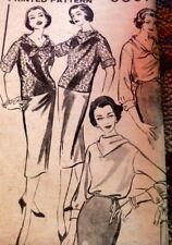 LOVELY VTG 1950s TOP & SKIRT ADVANCE Sewing Pattern 16/36 FF