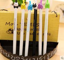 New 3PCS Korea Retractable Cartoon Cat RollerBall Pen/Gel Pen-0.5mm Black Ink