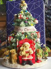 Cherished Teddies Lited Santa/Tree Limited Edition Musical 114180 (Hard To Find)