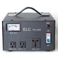 ELC TR-2000 2000 Watt Voltage Regulator Transformer - Step Up/Down - 110V/220V