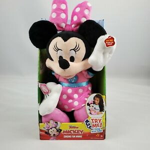 Disney Junior Mickey Mouse Singing Fun Minnie Mouse Toy 12 inch plush Ages 3+