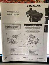 Honda GCV160 GCV190 engine owner's manual