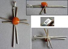 Grande croix pendentif en argent massif Design 1960 1970 silver cross