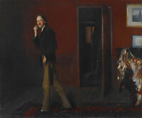 oil painting Sargent Robert Louis Stevenson and His Wife in sitting room canvas