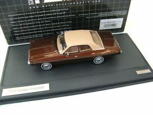 DODGE CORONET SEDAN 1973 BROWN METALLIC MATRIX MX20405-151 1/43 resine 408 PCS