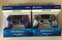 NEW Sony PS4 DualShock Controller Electric Purple + Titanium Blue Priority ship