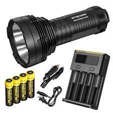 NiteCore TM16 4000 Lumens LED Long Range Searchlight Rechargeable + i4 & 4x18650
