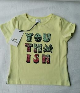 NO ADDED SUGAR T Shirt Yellow SS Top Young Girl Age 2 3 4 Years NWT gift summer