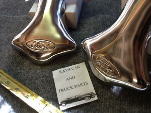 NEW PAIR STAINLESS STEEL EXHAUST SCRIPT TIPS FOR THE FORD CARS AND TRUCKS !