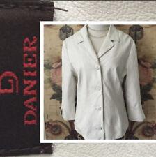 Danier women's medium white leather jacket