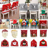 Santa Clause Red Hat Seat Chair Covers Christmas Decor Dinner Xmas Party Decor