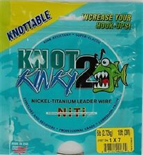 Knot2Kinky Nickel-Titanium Leader Wire, 7 Strand, 6lb(2.72kg) 10ft(3m)