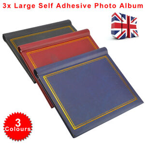 60 Sheets 120 Sides Self Adhesive Large Photo Albums Totalling Album 3pcs/Set