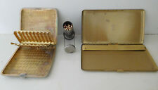 LOT of 3:  2 Cigarette Cases  W&H, 1915,  AA, + MARBLES MATCH SAFE - Pat'd 1900