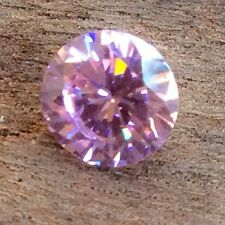 ROUND BRILLIANT CUT PINK CUBIC ZIRCONIA 8MM FACETED 1 PC LOOSE