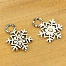 P1454 20pc Tibetan Silver snow Charm Beads Pendant accessories Jewellery Making