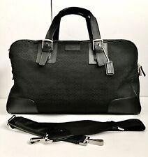 Coach F77085 Black Signature Travel Cabin Duffle Bag