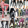 Women High Waist Yoga Leggings Pocket Fitness Sport Gym Workout Athletic Pants K