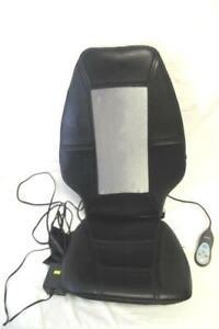 Homedics Seat Massage Cushion Massager Attached Remote Black Gray