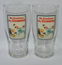 """GUINNESS BIERE 2 Verres 50 cl pinte """"MY GOODNESS MY GUINNESS"""" NEUF"""