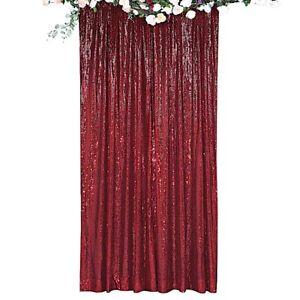 8 feet x 8 feet Sequin Backdrop Curtain Photo Booth Background Party Decorations