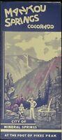 Vintage Brochure Manitou Springs Colorado City of Mineral Springs Pikes Peak